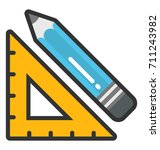 drafting vector icon | Shutterstock .eps vector #711243982