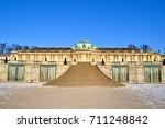 the schloss sanssouci  a summer ...   Shutterstock . vector #711248842