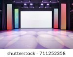 interior of a conference... | Shutterstock . vector #711252358