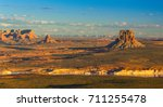 landscape with lake powell at... | Shutterstock . vector #711255478