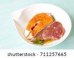 Salmon And Tuna Marinated In...