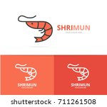 vector of shrimp and seafood... | Shutterstock .eps vector #711261508