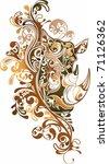 abstract animal | Shutterstock .eps vector #71126362