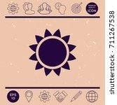 sun icon   Shutterstock .eps vector #711267538