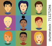 character faces vector | Shutterstock .eps vector #711271246