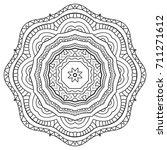 mandala isolated design element ... | Shutterstock .eps vector #711271612