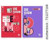 vector covers design set with... | Shutterstock .eps vector #711277168