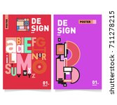 vector covers design set with... | Shutterstock .eps vector #711278215