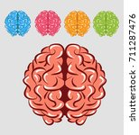 colorful brain | Shutterstock .eps vector #711287476