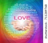 love heals word cloud    healer'...   Shutterstock . vector #711289768