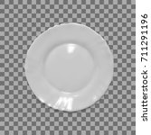 realistic white plate... | Shutterstock .eps vector #711291196