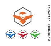 simple eagle educationl logo | Shutterstock .eps vector #711296416