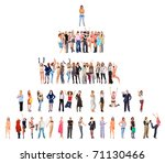 crowd competition hierarchy | Shutterstock . vector #71130466