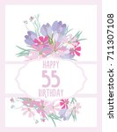 greeting card for anniversary... | Shutterstock .eps vector #711307108