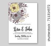 floral background for wedding...   Shutterstock .eps vector #711314572