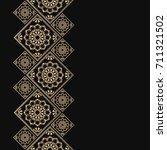 golden frame in oriental style. ... | Shutterstock .eps vector #711321502