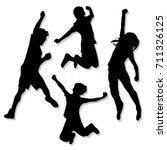 Kids Jump Vector