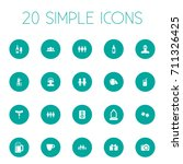 vector illustration set of... | Shutterstock .eps vector #711326425