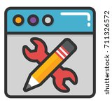website maintenance vector icon | Shutterstock .eps vector #711326572