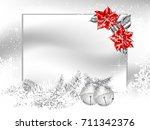 blank label with two silver... | Shutterstock .eps vector #711342376