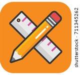drafting vector icon | Shutterstock .eps vector #711345262