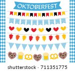 oktoberfest vector flags and... | Shutterstock .eps vector #711351775