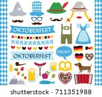 oktoberfest vector design... | Shutterstock .eps vector #711351988
