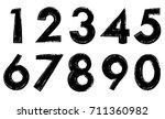 set of grunge numbers.vector... | Shutterstock .eps vector #711360982