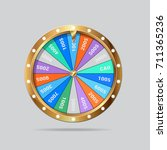 realistic 3d spinning fortune... | Shutterstock . vector #711365236