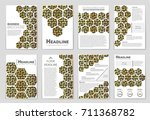 abstract vector layout... | Shutterstock .eps vector #711368782