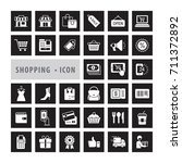 shopping icons set  e commerce  ... | Shutterstock .eps vector #711372892