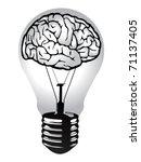 brain light bulb vector | Shutterstock .eps vector #71137405