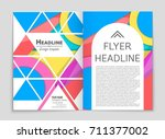 abstract vector layout... | Shutterstock .eps vector #711377002