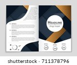 abstract vector layout... | Shutterstock .eps vector #711378796