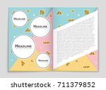 abstract vector layout... | Shutterstock .eps vector #711379852