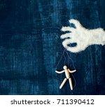concept of sugar addiction   a... | Shutterstock . vector #711390412