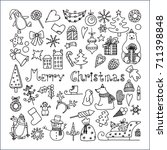 set of icons for a merry... | Shutterstock .eps vector #711398848