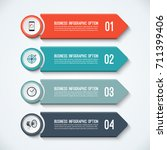 arrow infographic options... | Shutterstock .eps vector #711399406