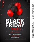 black friday sale flyer... | Shutterstock .eps vector #711404152