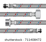 set of different water fittings ... | Shutterstock . vector #711408472