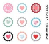 heart icon vector set... | Shutterstock .eps vector #711411832