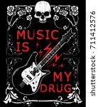 hard rock music poster | Shutterstock .eps vector #711412576