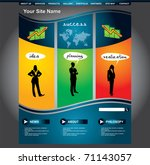 clean editable business web...   Shutterstock .eps vector #71143057