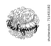 happy thanksgiving card.  | Shutterstock .eps vector #711431182