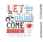 hand lettering let the little... | Shutterstock .eps vector #711431698