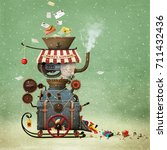 conceptual illustration... | Shutterstock . vector #711432436