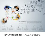 business meeting and... | Shutterstock .eps vector #711434698