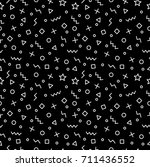 trendy geometric memphis... | Shutterstock .eps vector #711436552