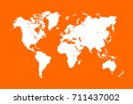 white blank vector world map.... | Shutterstock .eps vector #711437002