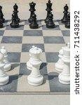 black and white chessmen on the ...   Shutterstock . vector #711438292